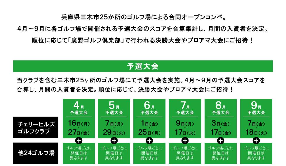 兵庫県三木市25ヶ所のゴルフ場による合同コンペ